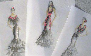 Návrhy šatů na flamenco