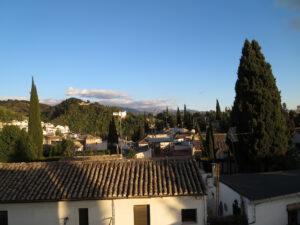 Terasa s vyhledem na Generalife a Alhambru_Ubytovani u rodiny, Granada