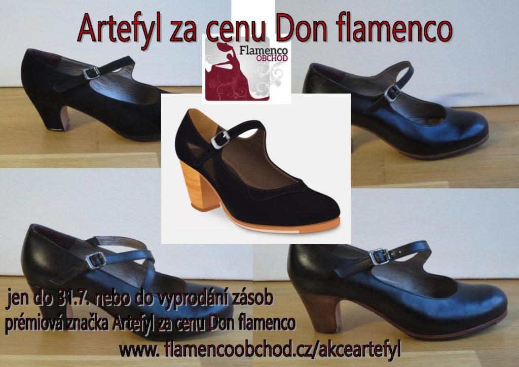 Akce boty na flamenco Artefyl_Flamenco obchod